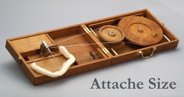 Attache size charkha wheel from Bosworth Spindles